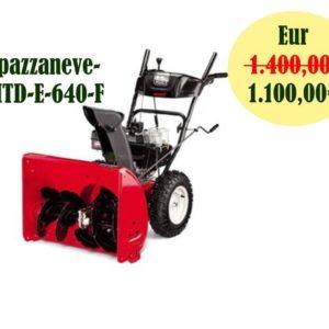 Spazzaneve MTD E 640 F